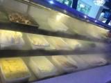 中意創展定制后補式自助火鍋菜品展示柜保鮮柜帶噴霧加濕的