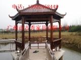 广州六角防腐木凉亭价格,仿古碳化木四角亭子厂家