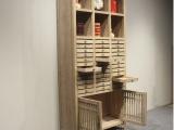 新中式茶叶收藏柜 老榆木免漆多宝阁置物架