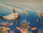 3D画、手绘墙、餐厅彩绘、手绘墙画、壁画、墙绘涂鸦