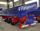 厂家专业订做10米-13米标箱侧翻轻体半挂车