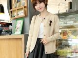 【淘工厂】2014春新款纯色韩版女士开衫 针织衫厂直供批发 现货