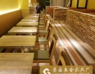 创意餐厅饭店实木饭桌 时尚餐桌 美式乡村复古餐厅家具