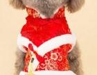 中国结宠物保暖唐装泰迪比熊棉衣裙加厚小型犬狗狗新年