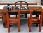 德阳市老船木茶桌椅子仿古茶台实木沙发茶几餐桌办公桌家具博古架
