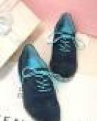 新款FRYE真皮系带平跟女鞋外贸原单磨砂牛皮英伦低帮单鞋一件代发
