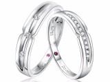 武汉久福源珠宝,定制钻戒婚戒对戒,钻石情侣对戒4288元