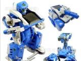 新款太阳能玩具批发三合一太阳能机器人模型 DIY自装拼装玩具模型
