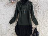 欧美范大牌高档针织衫外套女  品牌外贸原单西装领貂绒衬衫女批发
