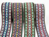 厂家直销几何图案电脑民族提花织带50MM服装鞋帽织带DIY辅料