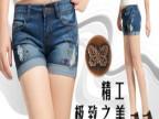 夏季女式牛仔短裤  韩版破洞彩绘做旧翻边女装牛仔短裤 女装608