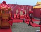 中式特色婚礼大红花轿,锣鼓迎亲
