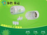 厂家大量供应LED日光灯外壳灯头配件 LEDT8椭圆日光灯堵头外