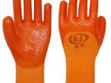 毛圈PVC保暖防寒手套 加厚加大耐磨冬季防护手套浸胶手套批发耐油