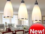 新款现代简约吊灯客厅餐厅灯吊灯三头吧台灯玻璃三头餐吊灯YL809