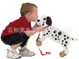 美国Applepie Toys 木制玩具 宝宝拖拉狗 超大斑点狗
