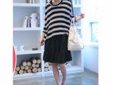 2012新款爆款孕妇装 宽条纹两件套休闲孕妇裙 孕妇时尚上衣38