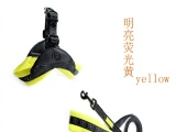 2.寵物帶廠家自產自銷簡單時尚舒適潛水料寵物三角胸背 牽引