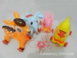 热销环保PVC充气拉线玩具 带轮子充气拉