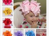 新款儿童超大蝴蝶结发夹头饰 燕尾款圣诞发夹发带 20cm 12色