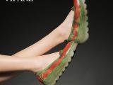 VIFANZ春夏手工单鞋复古厚底松糕鞋坡跟牛筋底女鞋真皮 批发广