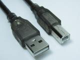 厂家批发 USB打印线 透明黑USB2.0打机机连接数据线全铜标