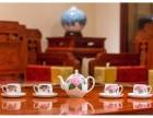 醴陵釉下五彩瓷 银银瓷器 八仙茶具套装 陶瓷茶具工艺礼品定制