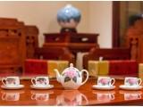 醴陵釉下五彩瓷 銀銀瓷器 八仙茶具套裝 陶瓷茶具工藝禮品定制