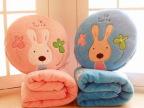 特价批发可爱砂糖兔子全棉空调毯靠枕抱枕午睡毛毯子毛绒毯子毛毯