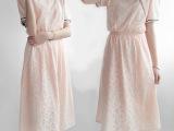 2015夏季日系森女文艺学院风小清新短袖蕾丝连衣裙中长裙
