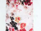 爆款丝巾批发 水墨中国风单层素绉缎数码喷绘长巾 厂家承接订单