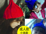 韩版可爱花朵帽尖顶针织毛线帽儿童尖尖帽西瓜帽男女童亲子帽子