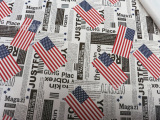 现货批发印花pvc皮革 美国国旗 封面类 电子产品 收纳盒面料