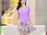 2014韩版夏季女装 新款品牌雪纺连衣裙 波西米亚收腰裙子夏季