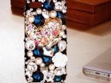 苹果奢华爱心宝石手机壳 苹果手机保护壳 iphone5S镶钻手机