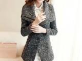 韩版女装 2014春装新款时尚修身大码毛呢短外套女式小外套JR1