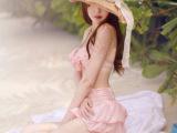 2014舒美姿韩版粉色蝴蝶结裙式比基尼泳衣