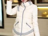 东大门韩版女装 冬装新款 加厚羽绒棉衣 中长款羽绒棉服批发
