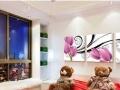 客厅装饰画三联画现代简约沙发背景挂画壁画无框郁金香