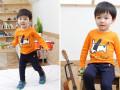 杭州四季青秋款时尚童装批发一手货源低价儿童卡通印花套装批发