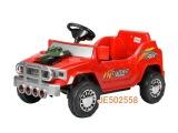 遥控电动儿童吉普车可充电红色带音乐 遥控坐人童车批发