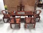 老船木茶桌椅组合实木仿古船木博古架