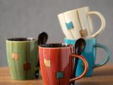 醴陵创意复古陶瓷杯 手绘陶瓷杯子特色马克