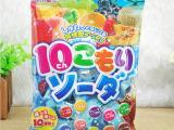 日本进口小零食 理本ribon 水果果味糖 水果碳酸糖 10种果