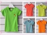 2014夏季新款童装 男女童 糖果色 短袖T恤 半袖衫 休闲童T