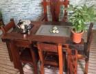 昌吉市老船木茶桌椅子仿古茶台实木沙发茶几餐桌办公桌家具博古架