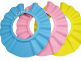 专柜正品 绿豆蛙儿童浴帽 宝宝洗浴必备洗发帽 可调节洗头帽 3色