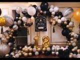 天津成人礼气球布置十八岁生日宴策划
