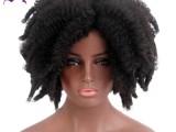 非洲黑人卷发假发套 节日装扮爆炸头头套 深圳假发批发厂家直销