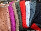 12076纯色带亮珠片人棉 针织布 女